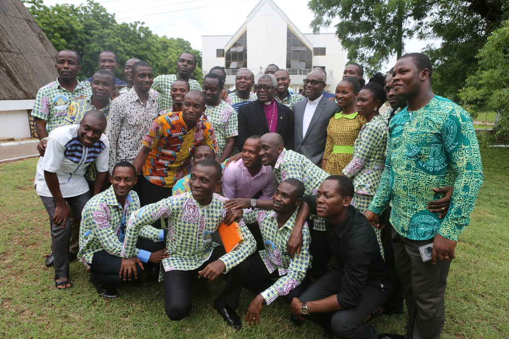 Some Students with the Bishop of the Methodist Church, Ghana