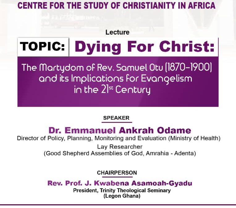Dying for Christ – Lecture